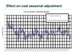 effect on coal seasonal adjustment