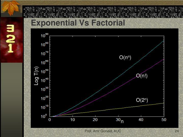 Exponential Vs Factorial