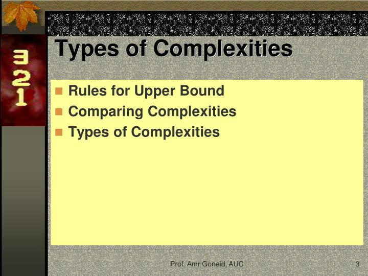 Types of complexities1