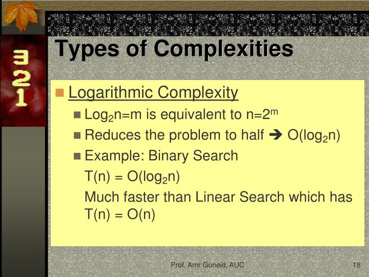 Types of Complexities
