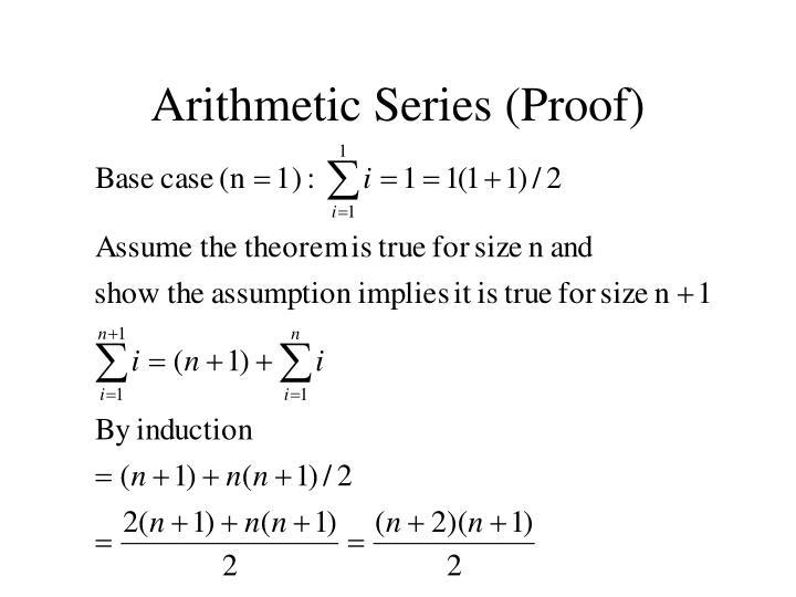 Arithmetic series proof