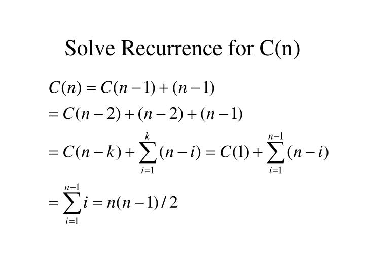 Solve Recurrence for C(n)