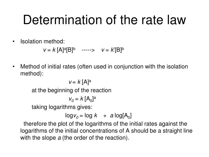 determination of the rate law n.
