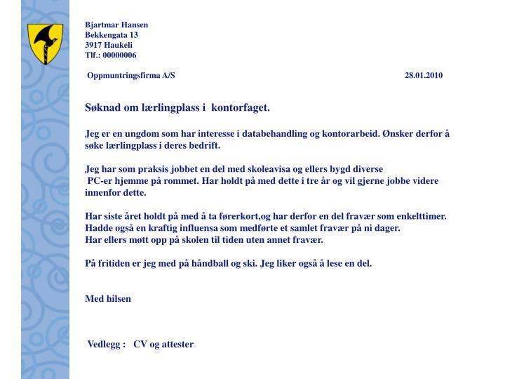 Bjartmar Hansen