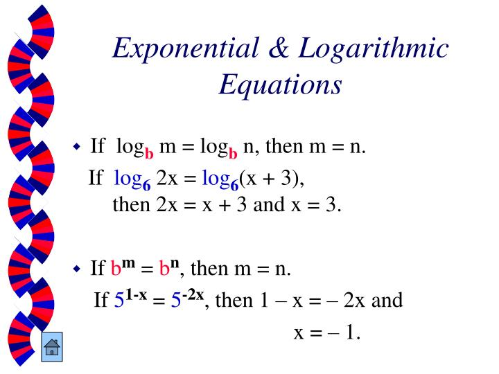 Exponential & Logarithmic Equations