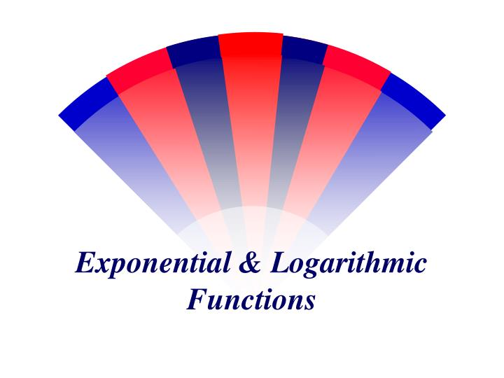 Exponential logarithmic functions