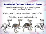 bind and deform objects pose