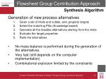 flowsheet group contribution approach4