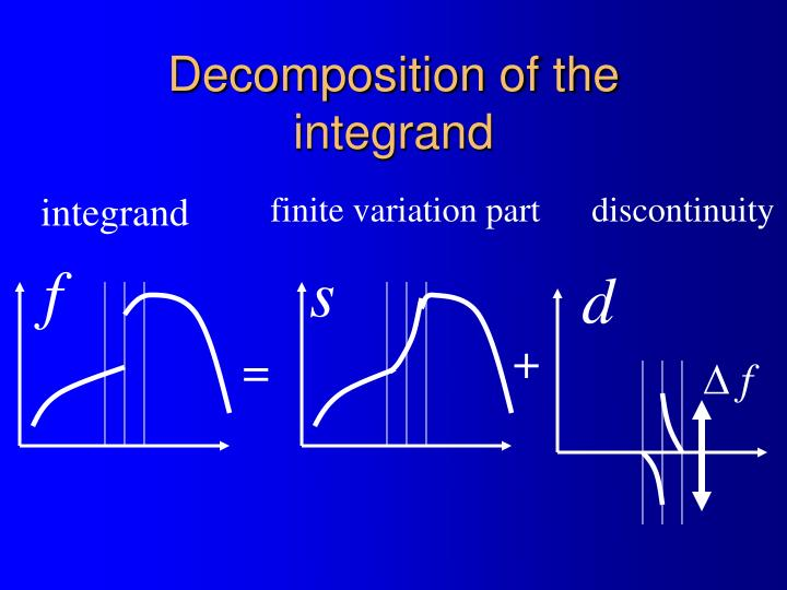 Decomposition of the integrand