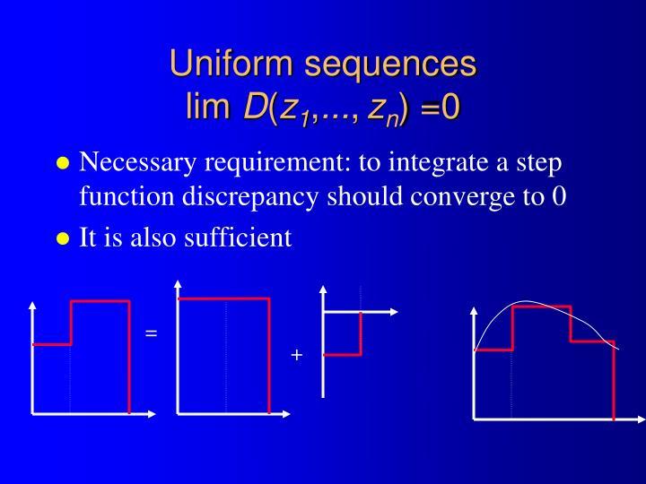 Uniform sequences
