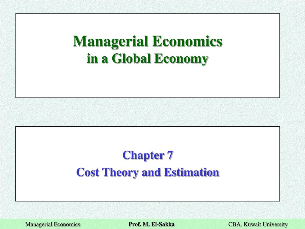 PPT - Managerial Economics in a Global Economy PowerPoint