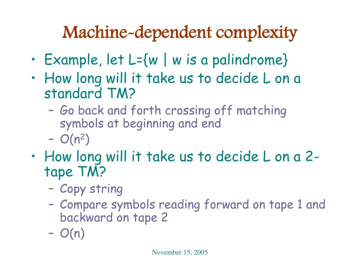 Machine-dependent complexity
