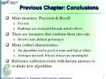 previous chapter conclusions