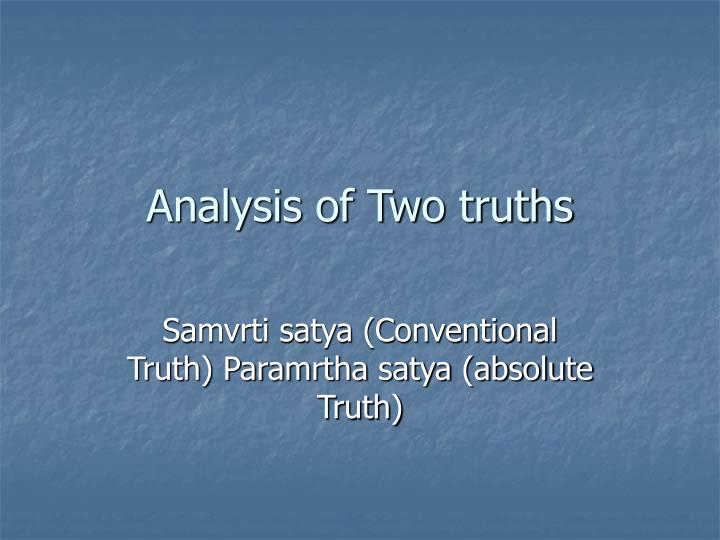analysis of two truths n.