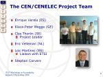 the cen cenelec project team