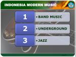 indonesia modern music