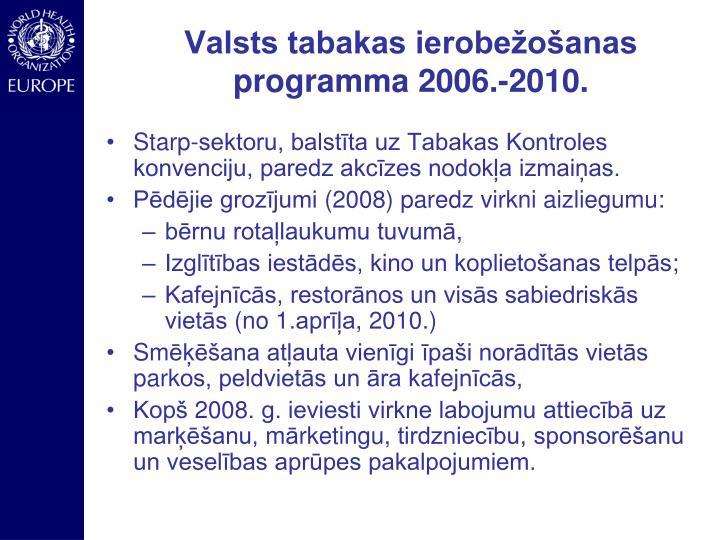 Valsts tabakas ierobežošanas programma