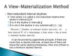 a view materialization method