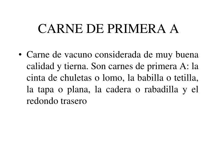 CARNE DE PRIMERA A