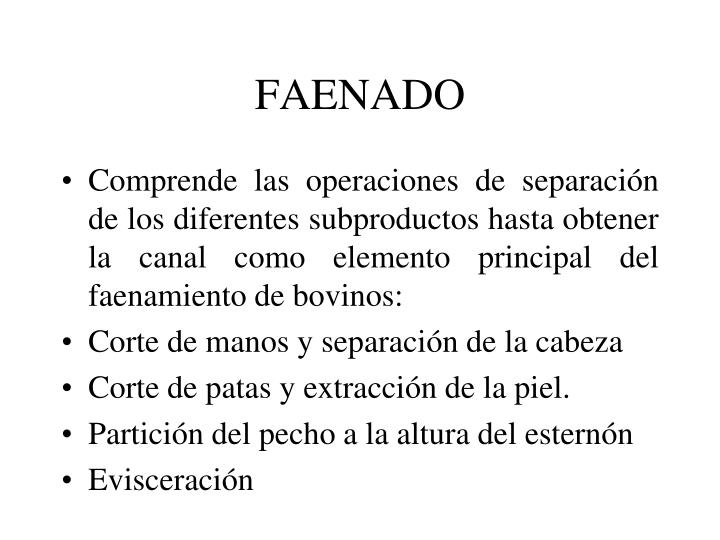 FAENADO