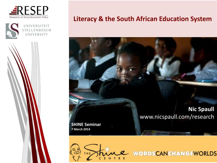 literacy the south african e ducation system n.