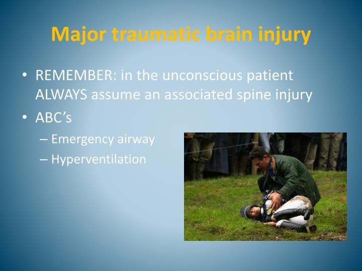 Major traumatic brain injury