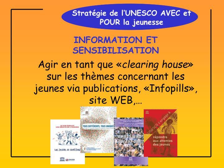 Stratégie de l'UNESCO AVEC et POUR la jeunesse