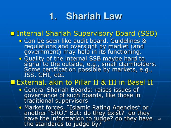 1.	Shariah Law