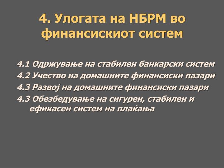 4. Улогата