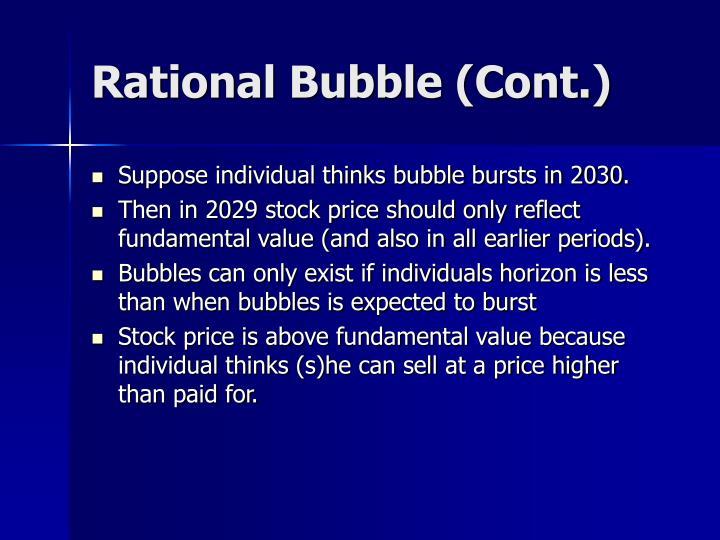 Rational Bubble (Cont.)