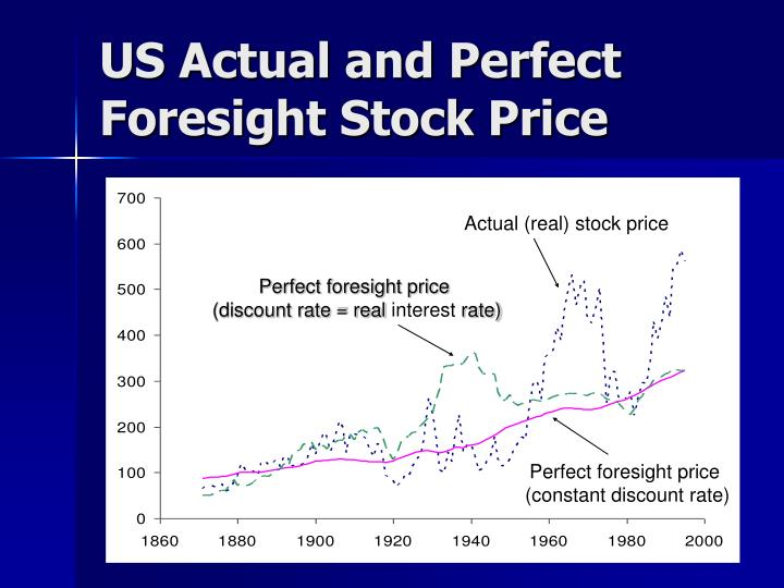 US Actual and Perfect Foresight Stock Price