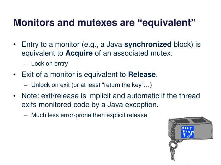Monitors and mutexes are