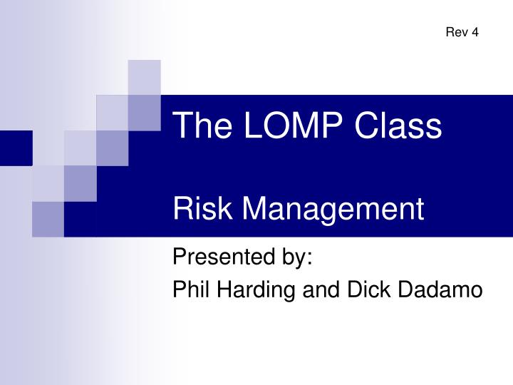 the lomp class risk management n.