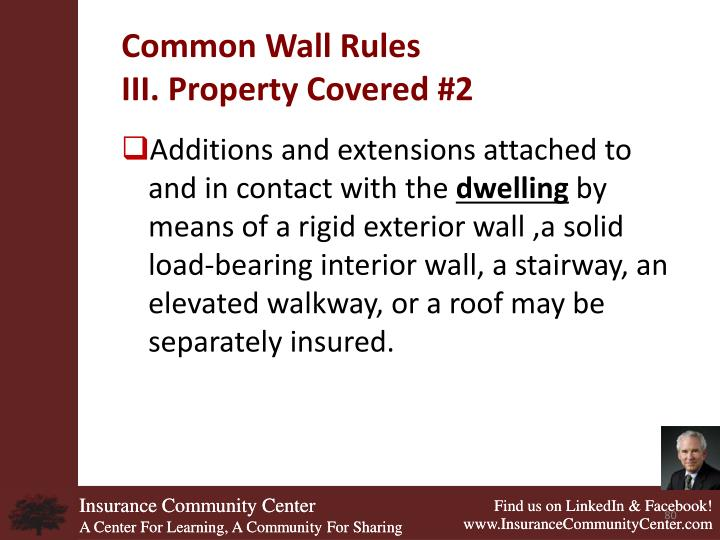 Common Wall Rules