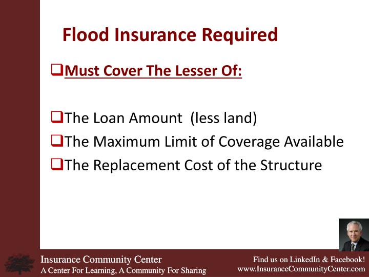 Flood Insurance Required