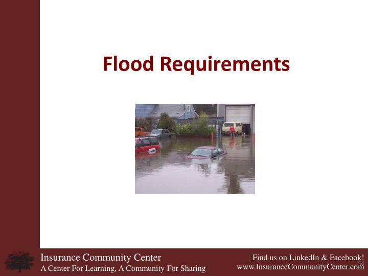 Flood Requirements