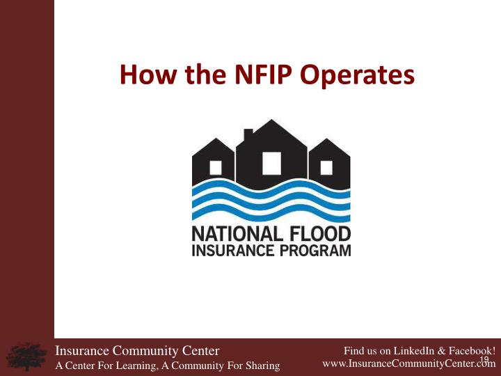 How the NFIP Operates