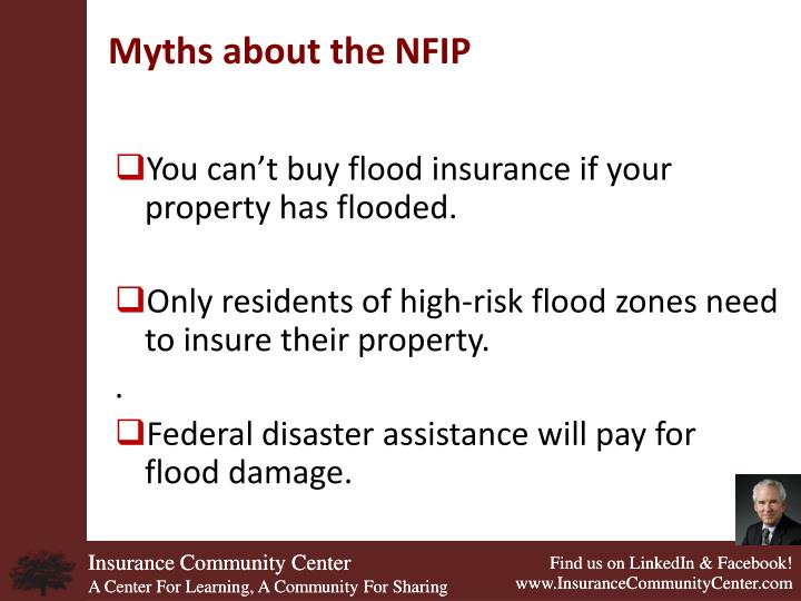 Myths about the NFIP