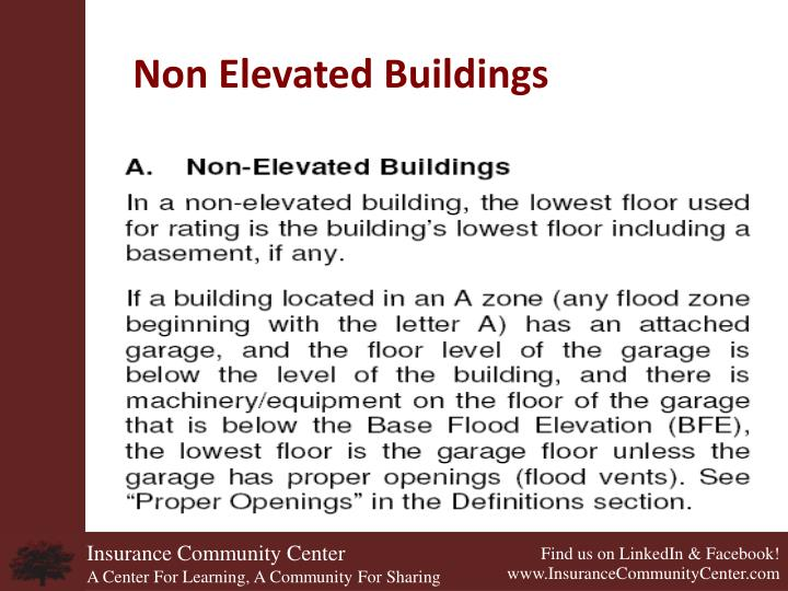 Non Elevated Buildings