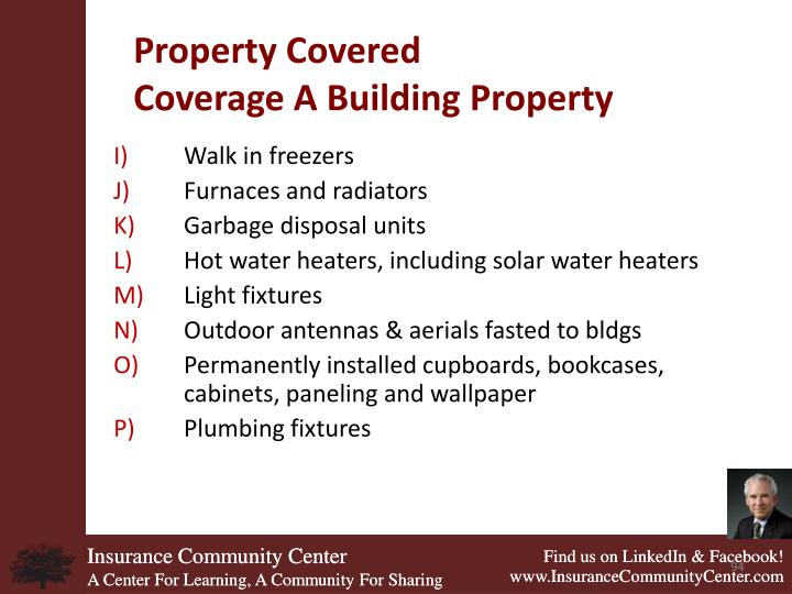 Property Covered