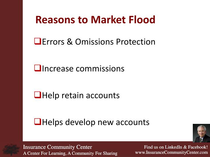 Reasons to Market Flood