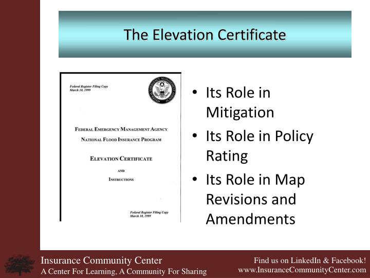 The Elevation Certificate