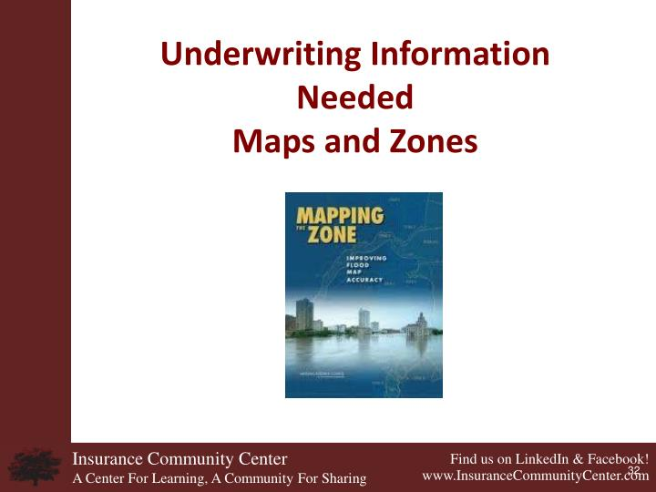 Underwriting Information Needed