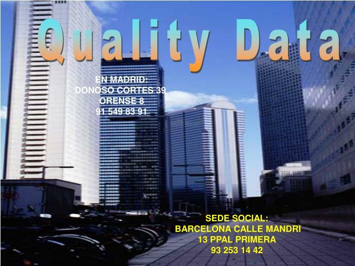 Quality Data