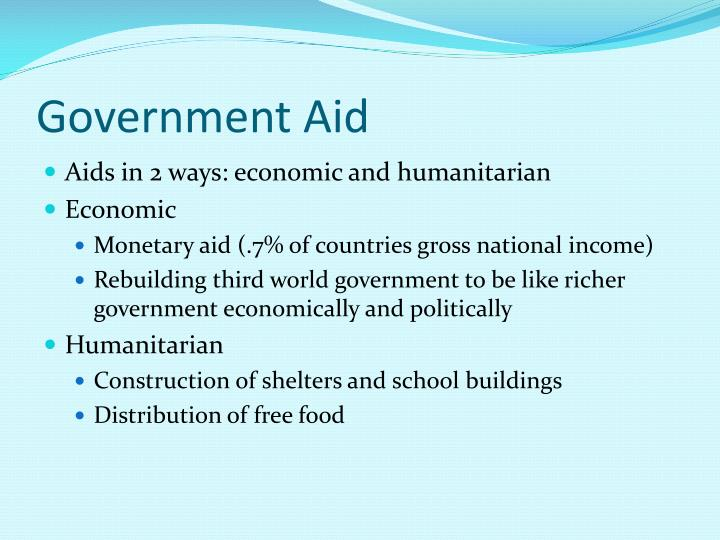 Government aid