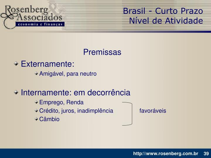 Brasil - Curto Prazo
