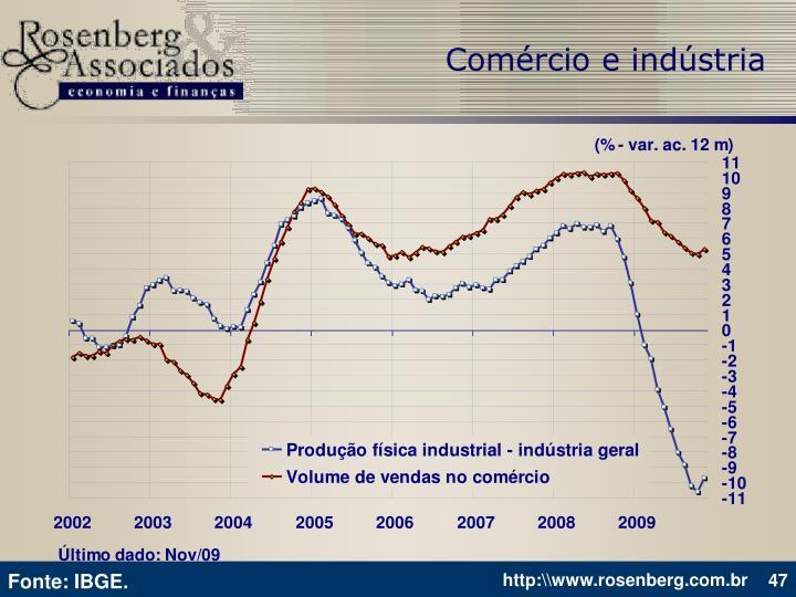 Comércio e indústria