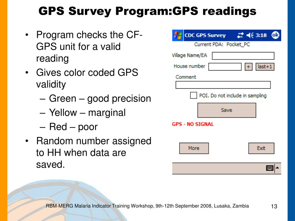 PPT - Sampling Considerations, Including Using a PDA with GPS to