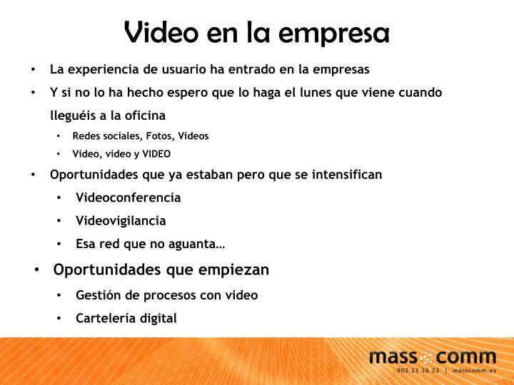 Video en la empresa