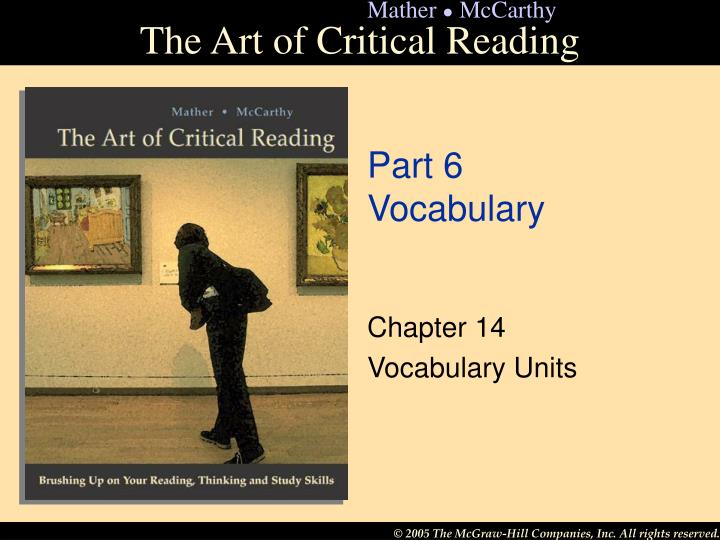 part 6 vocabulary n.